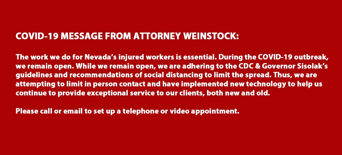 Covid-19 Essential Business Message from Attorney Weinstock