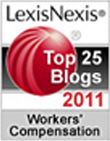 2011 Top 25 Legal Blog; Workers Compensation Law