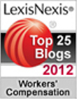 2012 Top 25 Legal Blog; Workers Compensation Law