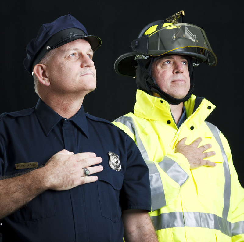 police officer & fire fighter