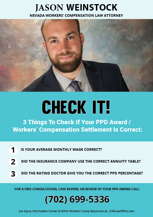 3 Things to Check to Determine if your PPD Award Workers / Compensation Settlement is correct