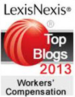 2013 Top 25 Legal Blog; Workers Compensation Law